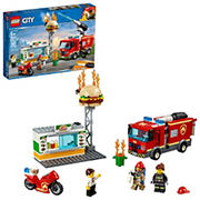 LEGO City Burger Bar Fire Rescue 60214 Building Kit, 327 Pc.