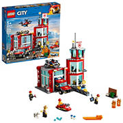 LEGO City Fire Station 60215 Building Kit, 509 Pc.
