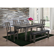 Picket House Furnishings Grayson 6-Piece Dining Set - Gray