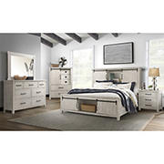 Picket House Furnishings Jack Queen Platform Storage 5-Piece Bedroom Set - White