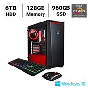 CLX SET TGMSETRTH0207BR Gaming Desktop, AMD Ryzen Threadripper 3970X 3.7GHz Processor, 128GB Memory, 960GB SSD, 6TB HDD
