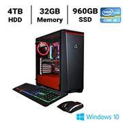 CLX SET TGMSETRTH0209BR Gaming Desktop, Intel Core i9 10940X 3.3GHz Processor, 32GB Memory, 960GB SSD, 4TB HDD