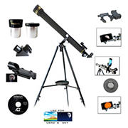 Galileo 700mm x 60mm Refractor Telescope with Smartphone Adapter and Solar Filter