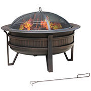 "35"" Round Outdoor Fire Pit"