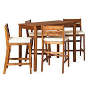 W. Trends 5-Pc. Outdoor Acacia Pub Set - Brown