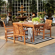 W. Trends 5-Pc. Patio Acacia Dining Set - Brown