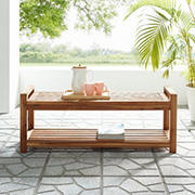 W. Trends 3-Seater Outdoor Acacia Bench - Brown
