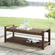 W. Trends 3-Seater Outdoor Acacia Bench - Dark Brown