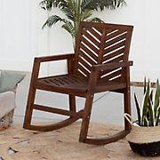 W. Trends Outdoor Acacia Rocking Chair - Dark Brown