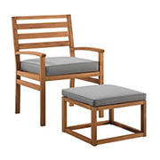 W. Trends Outdoor Acacia Chair Set - Brown