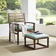 W. Trends Outdoor Acacia Chair Set - Dark Brown