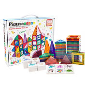 PicassoTiles 102-Pc. Magnetic Tile Construction Playset