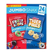 Kellogg's Jumbo Snax Variety Pack, 24 ct.