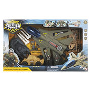 Soldier Force Air Hawk Fighter Jet Playset with Figures, Air, Land and Sea Vehicles