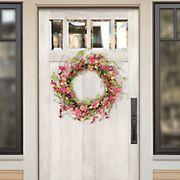 "Puleo International 24"" Artificial Spring Jasmine Flower Wreath"