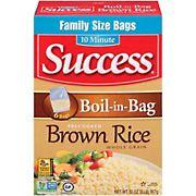 Success Rice Boil-in-Bag Whole Grain Brown Rice, 32 oz.