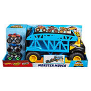 Hot Wheels Monster Truck Monster Mover with 3 Trucks Bundle