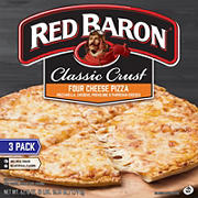 Red Baron Classic Crust Four Cheese Pizza, 3 pk.