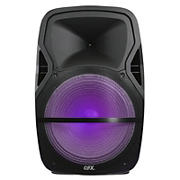 "QFX 15"" Rechargeable Battery Powered Bluetooth Speaker with Equalizer"