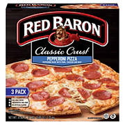 Red Baron Classic Crust Pepperoni Pizza, 3 pk.