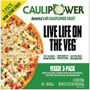 Caulipower Veggie Cauliflower Crust Pizza, 3 pk/