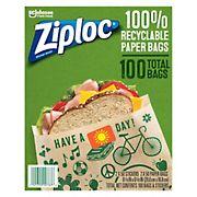 Ziploc Paper Sandwich Bags, 100 ct.