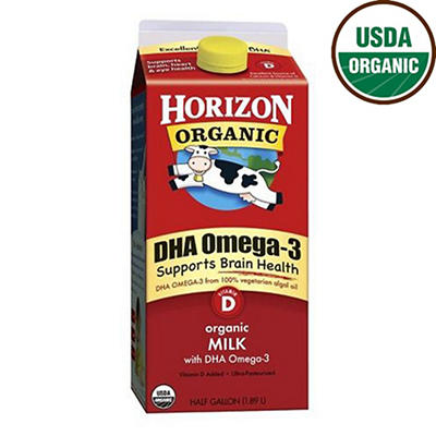 Horizon Organic Whole Milk with DHA, 64 oz.