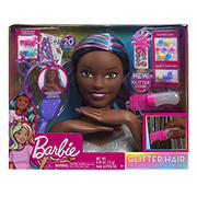 Barbie Deluxe Glitter and Go Styling Head