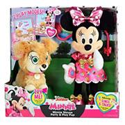 Disney Junior Minnie Mouse Party and Play Puppy Feature Plush