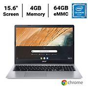Acer CB315-3H-C4QE Chromebook 315 Laptop, Intel Celeron N4000 Dual-Core Processor, 4GB Memory, 64GB eMMC