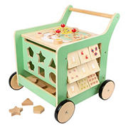 Small Foot Wooden Toys Premium Pastel Wooden Baby Walker and Move It! Playcenter