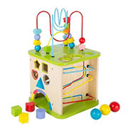 "Small Foot Wooden Toys 5-In-1 10"" Activity Cube & Play Center"