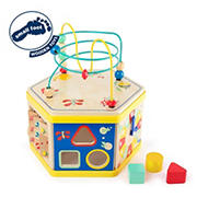 Small Foot Wooden Toys Activity Center 7-in-1 Motor Skills Move It! Playset