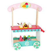 Small Foot Wooden Toys Ice Cream Cart Playset