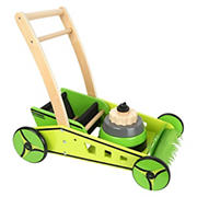 Small Foot Wooden Toys Lawn Mower & Baby Walker Playset