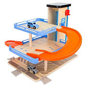 Small Foot Wooden Toys Multi-Level Parking Garage Playset