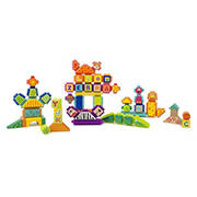 Small Foot Wooden Toys Safari Theme Wood and Knobs 150-Pc. Building Blocks Playset