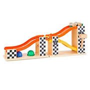 Small Foot Wooden Toys Marble Run & Knock Hammer Bench - Rally Design