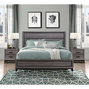 Global Furniture Margot Bed and Two Night Stands