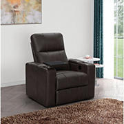 Abbyson Living Ryder Power Leather Recliner - Brown
