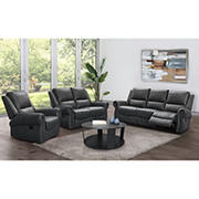Abbyson Living Anderson Reclining Set with White Glove Delivery - Grey