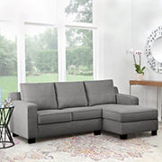 Abbyson Living Brookline Fabric Reversible Sectional, Gray