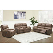 Abbyson Living Lynn Fabric Reclining Set with White Glove Delivery - Camel