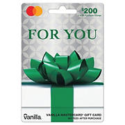 Vanilla MasterCard Party Bow $200 + $6.95 fee