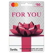 Vanilla MasterCard Party Bow $50 + $4.95 fee