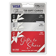 Vanilla Visa Gift Box Multipack $75 3x$25 + $8.95 fee Gift Cards