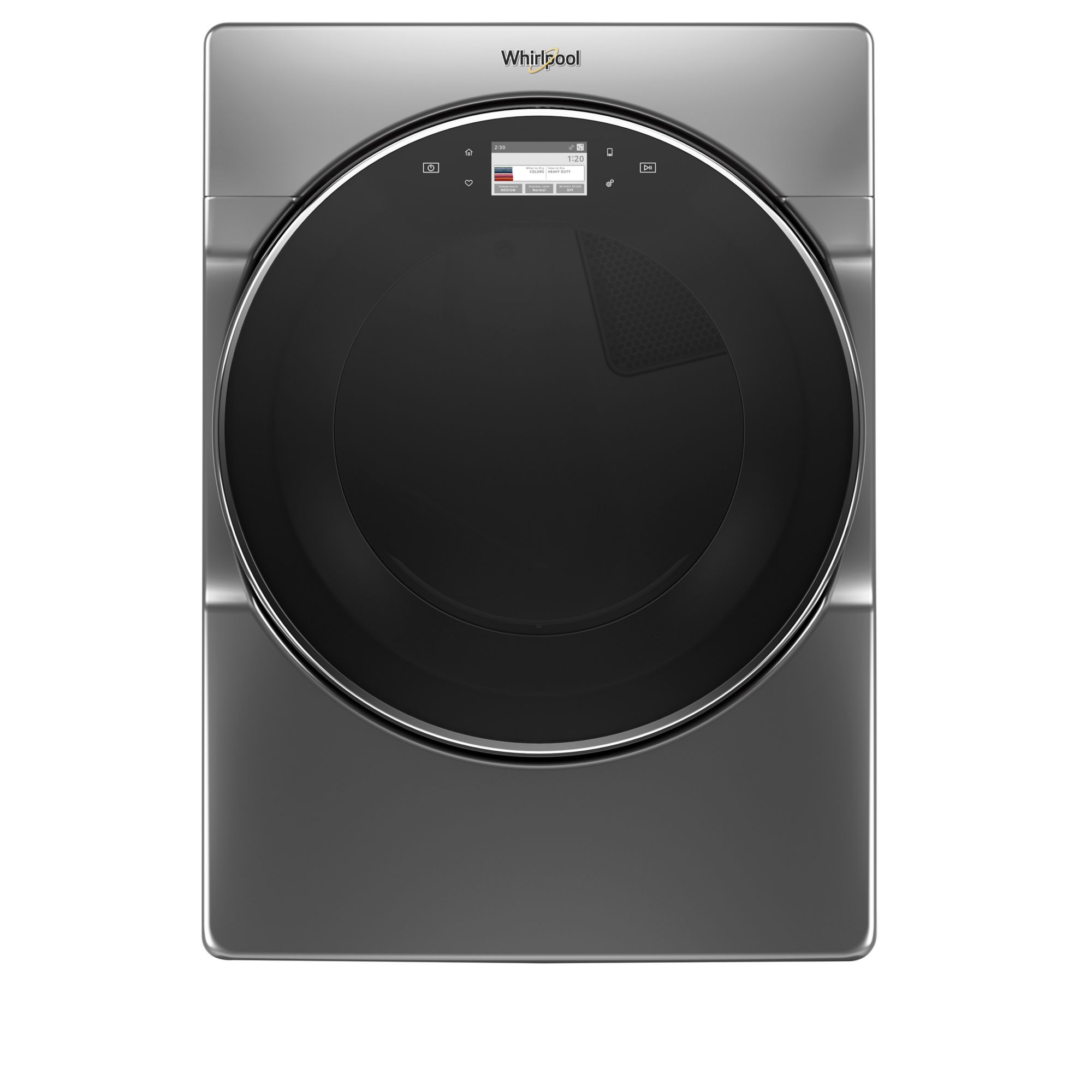 Whirlpool 7.4 Cu. Ft. Smart Front Load Electric Dryer - Chrome Shadow