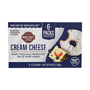 Wellsley Farms Cream Cheese Bar, 6 ct