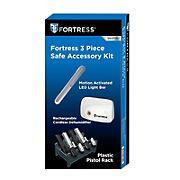 Fortress 3 Piece Safe Accessory Kit with Light Bar, Dehumidifier, Pistol Rack