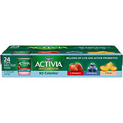 Dannon Activia Light Nonfat Strawberry, Blueberry & Peach Yogurt Variety Pack, 24 pk./4 oz.